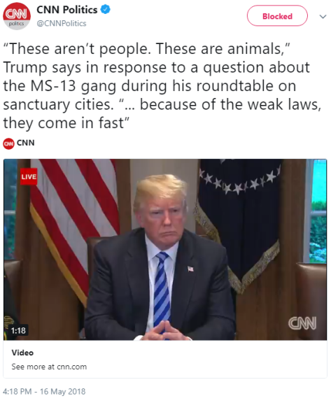 "CNN agrees: Trump was calling MS-13 ""animals"""