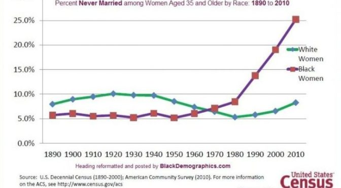 """Does the """"legacy of slavery"""" explain black women's 72% out-of-wedlock birth rate?"""