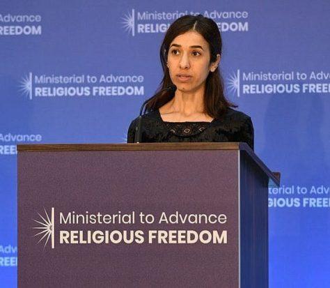 Yazidi sex slave survivor Nadia Murad