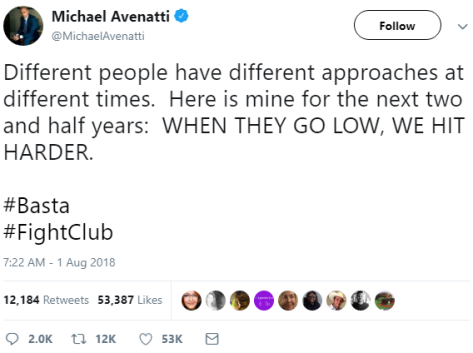 Michael Avenatti, the great Democrat hero, defender of women