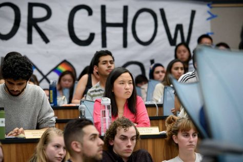 Isabella Chow, surrounded by secular leftist fascists