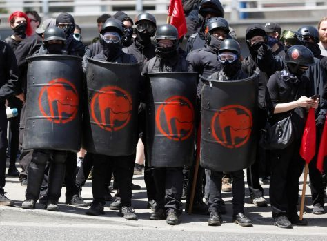 Here's a bunch of violent fascist thugs