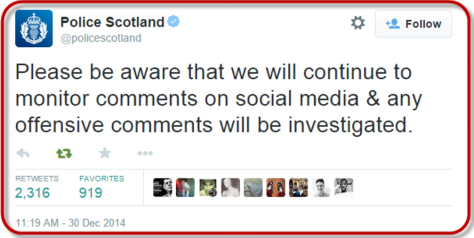 Scotland Police has time for monitoring social media