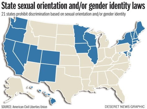 21 states have SOGI anti-discrimination laws
