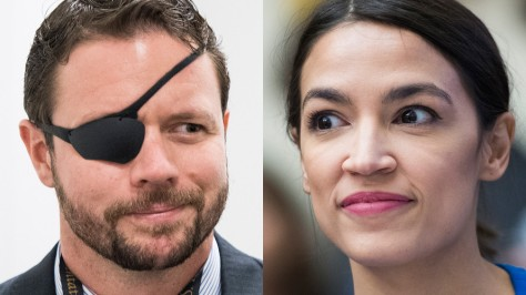 Here's Navy SEAL Dan Crenshaw and bartender/waitress Alexander Ocasio-Cortez
