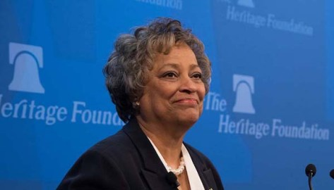 Kay Coles James is president of the Heritage Foundation, my favorite think tank