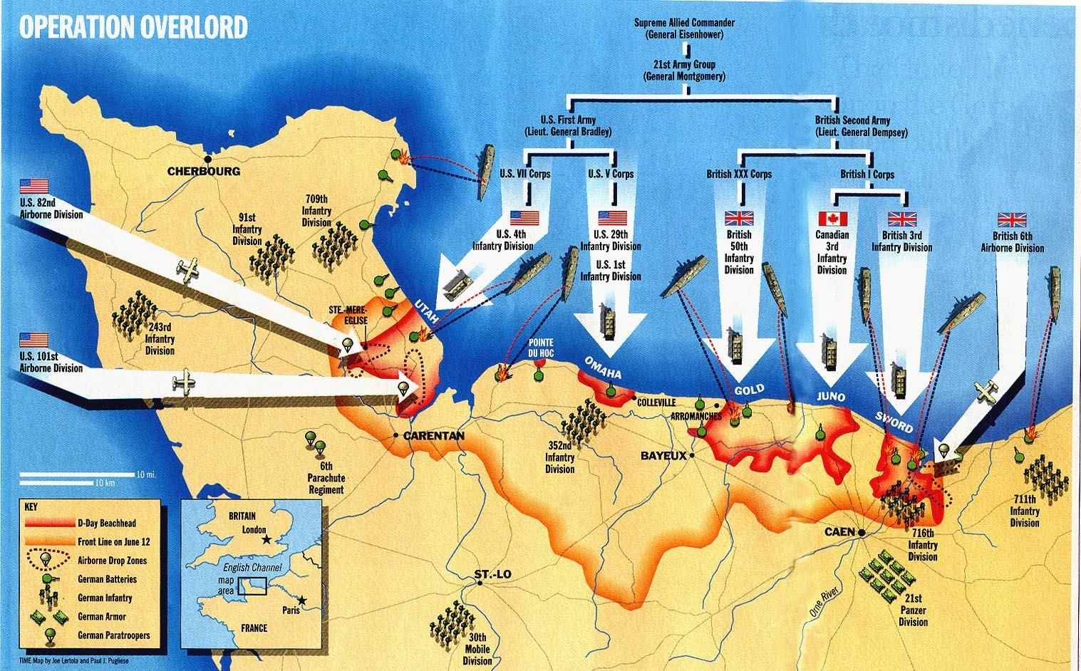 Meet four heroes of the D-Day invasion of Normandy on June 6th, 1944 Dday Map on