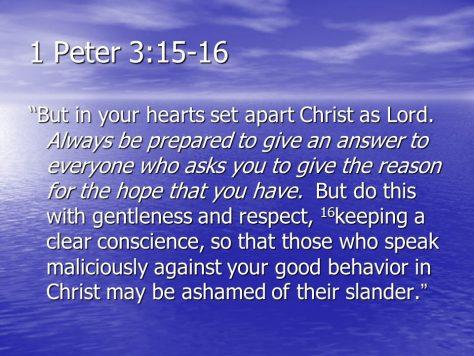 1 Peter 3:15-16