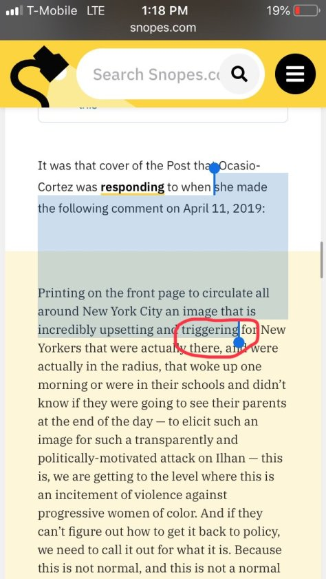 Snopes says this claim about AOC is true