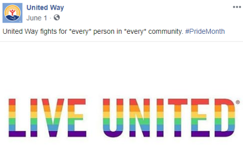 United Way is pro-gay-rights anti-marriage anti-religious liberty
