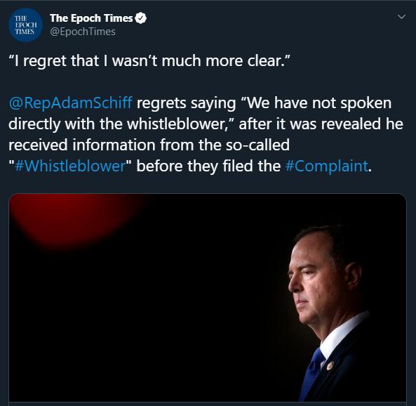 "Adam Schiff lied about not meeting with the Democrat ""whistleblower"""