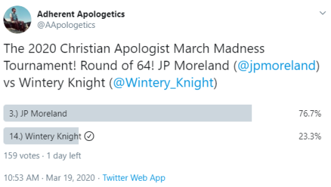 Christian Apologist March Madness Tournament