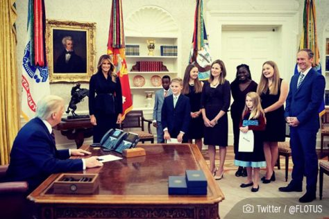Amy Coney Barrett, her husband and her 7 children