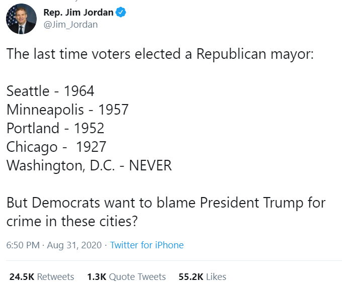 The most violent cities have been run by far-left Democrats for decades