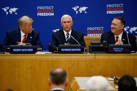 President Donald Trump, Vice President Mike Pence and Secretary of State Mike Pompeo