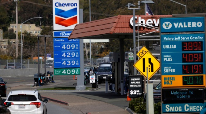 What happened to gas prices and other consumer prices after the Democrats took over?
