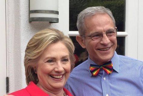 Ed Buck and Hillary Clinton