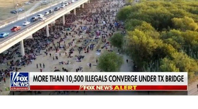 Illegal Immigrants Texas Bridge